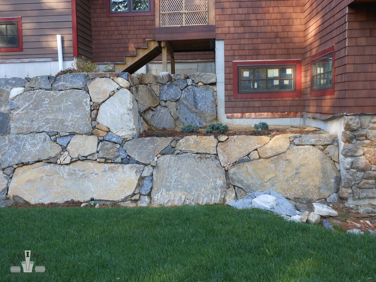 Freestanding Rock Wall Design Construction Prime Construction