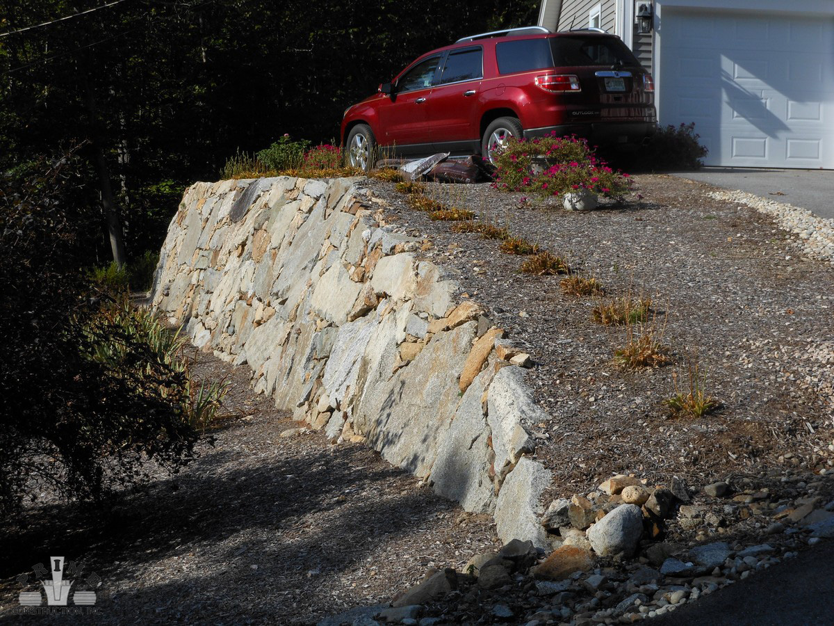 Stone Retaining Wall Project Photos Prime Construction NH