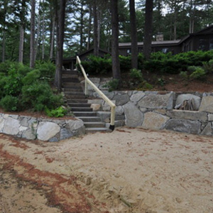 Beach Retaining Wall Construction