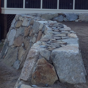 stone wall tops